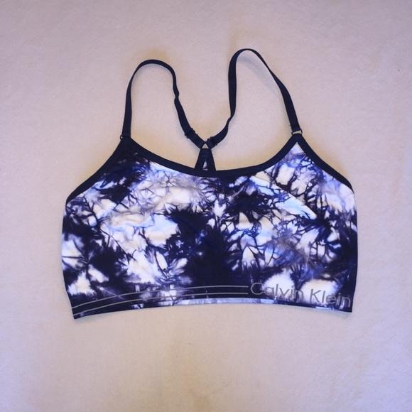 775325d71d Calvin Klein Other - Calvin Klein tie dye navy white sports bra!